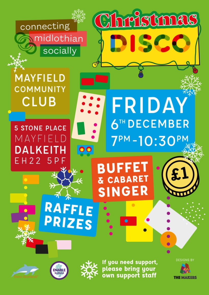 Christmas Disco ayfield Community Club 6th December