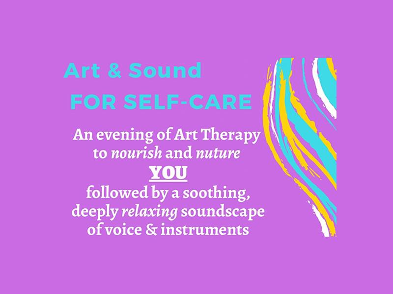 Art and Sound for Self-Care flyer