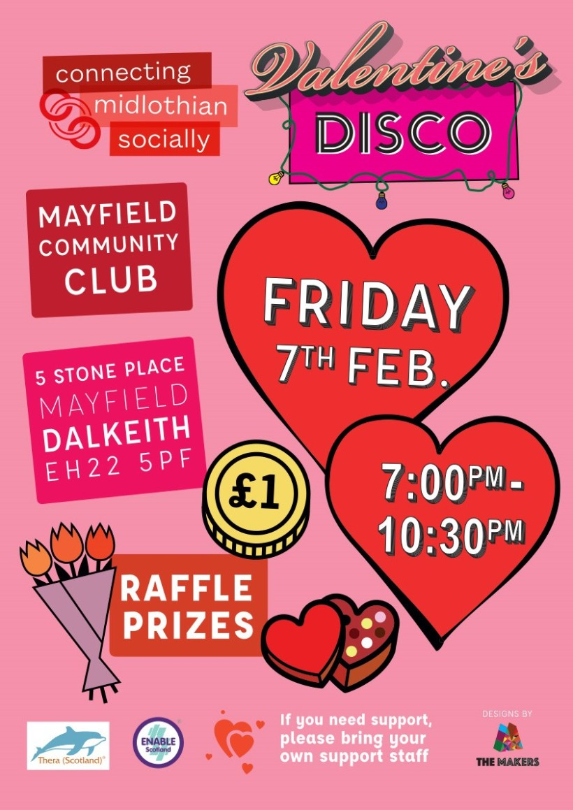 Valentin's Disco Flyer