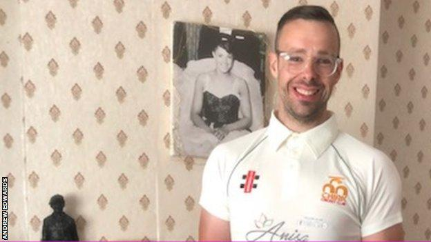 Andrew in cricket top