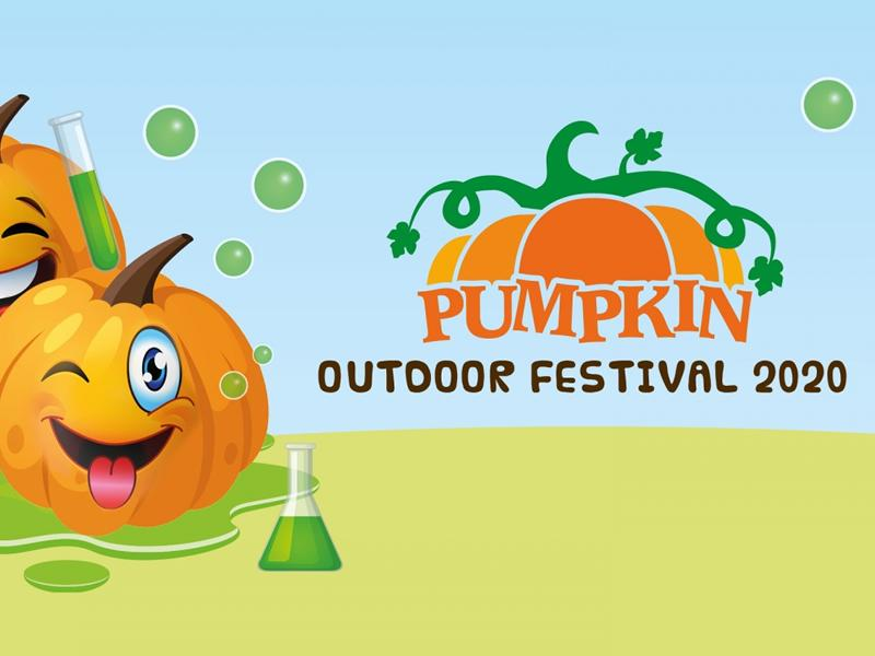 Pumpkin outdoor festival logo
